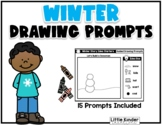 Winter Guided Drawing Story Starter Prompts