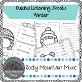 Winter Guided Listening Sheets