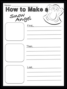 Winter Guided Story Writing (First, then, last)