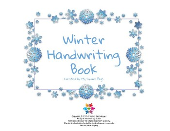 Winter Handwriting Book