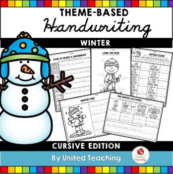 Winter Handwriting Lessons (Cursive Edition)