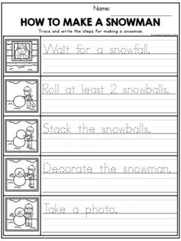 Winter Handwriting Lessons (Manuscript Edition)