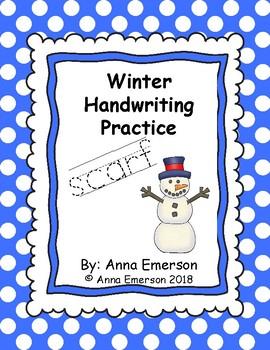 Winter Handwriting Practice A-Z