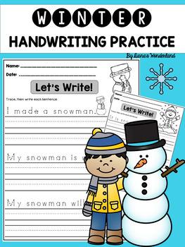 Winter Handwriting Practice (Sentences)