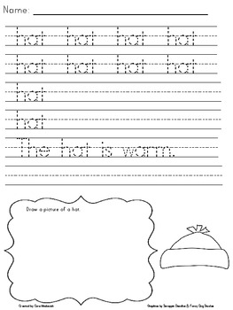 Winter Handwriting Practice Packet