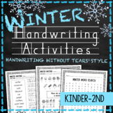 Winter Handwriting Practice Worksheets - Handwriting Without Tears snow snowman