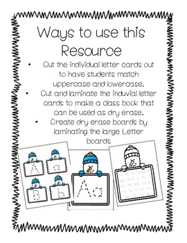 Winter Handwriting Tracing