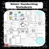 Winter Handwriting Worksheets Occupational Therapy