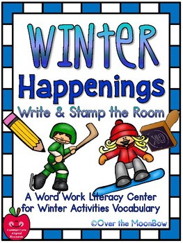 Winter Happenings Write / Stamp the Room Activity Pack