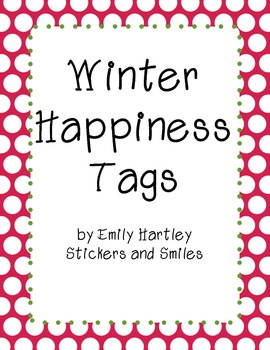 Winter Happiness Tags