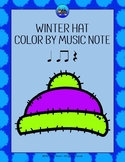 Winter Hat Color By Music Note Rhythm Coloring - Quarter Rest