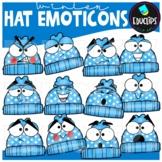Winter Hat Emoticons Clip Art Set {Educlips clipart}