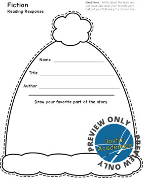 Winter Hat Shaped Reading Response Sheets for Any Book