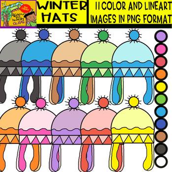 Winter Hats - Cliparts Set - 11 Items
