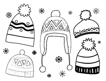 Winter Hats Coloring Sheets By Art With Ms Lindsey Tpt