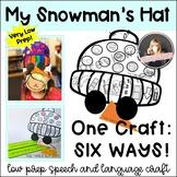 Articulation & Language No Prep Craft Winter Hats: 1 produ