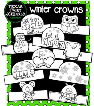 Winter Hats or Crowns {Texas Twist Scribbles}