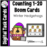 Winter Hedgehogs Counting 1-20 Boom Cards