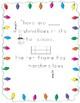 Winter/HoCocoa themed Ten Frame Activitty