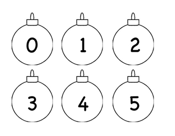 Winter Holiday 123s and ABC order Activity