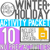 Winter Holiday Activities Packet