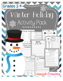 No Prep Winter Holiday Activity Pack