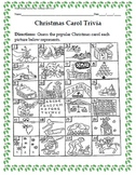 Winter Holiday Activity Pack - Guess the Christmas Carol Trivia Game