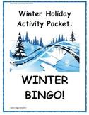 Winter Holiday Activity Pack - Winter BINGO