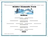 Winter Holiday Activity Pack - Winter Diamante Poem Activity