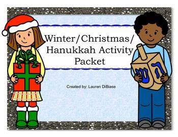 Winter / Christmas / Hanukkah Activity Packet