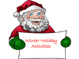 Winter Holiday Activity Packet for 1st - 5th Grade