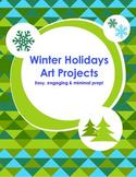 Winter Holiday Art Projects Christmas Hanukkah Kwanzaa