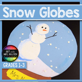 Elementary Winter Holiday Art: Snow Globe Collage