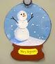 Elementary Winter Holiday Art: Snow Globe Collage