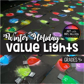 Winter Holiday Art: Value Holiday Lights!