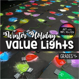Winter Holiday Art: Holiday Value Lights