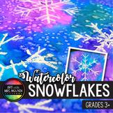 Winter Holiday Art Lesson: Watercolor Snowflake Resist Paintings