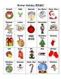 Winter Holiday BINGO: 30 Cards!