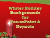 Winter Holiday Backgrounds for PowerPoint or Keynote