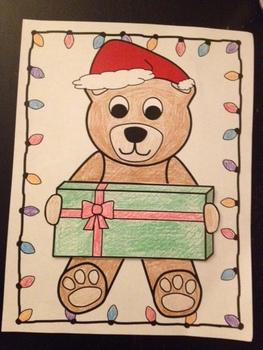 Winter / Holiday Bear Card