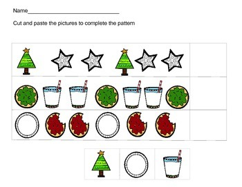 Winter Holiday Beginning Cut and Paste Patterns