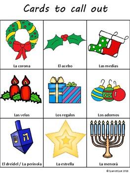 Winter Holiday Bingo in Spanish!