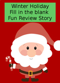 Winter Holiday Biology fill in the blank Review story