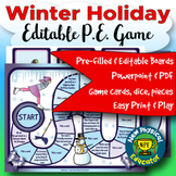 Winter Holiday Board Game for Physical Education, Elementary