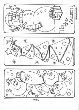 Winter Holiday Bookmarks, Coloring Pages and More!