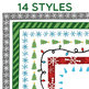 Clip Art: Winter Holiday Border Set - Borders for Personal and Commercial Use