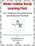 Winter Holiday Break Learning Pack: A 14+ Activity Plan to keep kids learning!