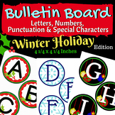 Winter Holiday Bulletin Board Letters & Numbers: 3 Sets