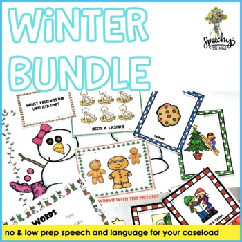 Winter Holiday FULL Resource - Speech and Language Therapy Activities