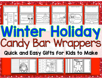 Winter Holiday Candy Bar Wrappers